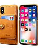 billige iPhone-etuier-Etui Til Apple iPhone XS / iPhone XR / iPhone XS Max Lommebok / Kortholder / Støtsikker Bakdeksel Ensfarget Hard PU Leather