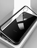 ราคาถูก ป้องกันหน้าจอโทรศัพท์มือถือ-Case สำหรับ Apple iPhone X / iPhone 8 Plus / iPhone 8 Shockproof / Transparent / Magnetic ตัวกระเป๋าเต็ม สีพื้น Hard แก้วไม่แตกกระจาย / Metal