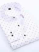 billige Skjorter-Skjorte Herre - Grafisk Grunnleggende Hvit
