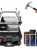 זול מגנים לאייפון-מגן עבור Apple iPhone XS / iPhone XR / iPhone XS Max עמיד בזעזועים / עמיד לאבק / עמיד במים כיסוי מלא אחיד קשיח מתכת