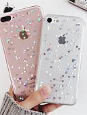 baratos Capinhas para iPhone-Capinha Para Apple iPhone XS / iPhone X / iPhone 8 Plus Antichoque / Translúcido Capa traseira Coração / Desenho Animado Macia TPU