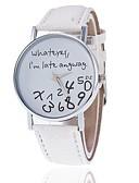 זול שעונים-בגדי ריקוד נשים שעון יד קווארץ עור דמוי עור מרופד שחור / לבן / כחול שעונים יום יומיים אנלוגי אופנתי אלגנטית - ורוד כחול בהיר ירוק בהיר שנה אחת חיי סוללה