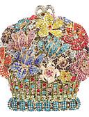 Χαμηλού Κόστους Μηχανικά Ρολόγια-Γυναικεία Κρυστάλλινη λεπτομέρεια / Με Τρύπες Κράμα Βραδινή τσάντα Κρύσταλλο Βραδινά Τσάντες Κρυστάλλινα Άνθινο / Βοτανικό Ανθισμένο Ροζ / Χρυσό / Ανοικτό Χρυσό / Φθινόπωρο & Χειμώνας