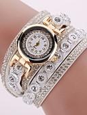 baratos Relógios-Mulheres Bracele Relógio Quartzo Couro Preta / Branco / Prata Relógio Casual imitação de diamante Analógico Brilhante Fashion - Rosa claro Azul Claro Khaki Um ano Ciclo de Vida da Bateria