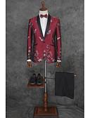 povoljno Odijela-Jednobojni Kroj po mjeri Poliester Odijelo - Stepenasti Droit 1 bouton / odijela