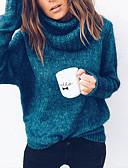 olcso Női pulóverek-Női Napi Alap Egyszínű Hosszú ujj Extra méret Szokványos Pulóver Pulóver jumper, Körgallér Ősz / Tél Fekete / Arcpír rózsaszín / Fukszia S / M / L