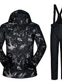 お買い得  赤ちゃん セーター&カーディガン-男性用 スキージャケット&パンツ 防水 保温 防風 スキー キャンピング&ハイキング スノーボード ポリエステル100% ウインドブレーカー スノービブパンツ スキーウェア / 冬