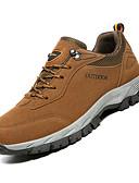 ราคาถูก เสื้อโปโลสำหรับผู้ชาย-สำหรับผู้ชาย รองเท้าสบาย ๆ PU ตก Sporty รองเท้ากีฬา เดินป่า ไม่ลื่นไถล สีเทา / สีน้ำตาล / อาร์มี่ กรีน