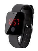 billige Digitalure-Herre Digital Watch Digital Silikone Sort / Hvid / Rød 30 m Vandafvisende LCD Digital Afslappet Mode - Rød Grøn Blå