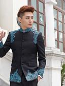 お買い得  スーツ-パターン柄 テイラーフィット ポリエステル スーツ - ノッチドラペル シングルブレスト 一つボタン