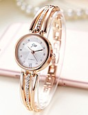 ราคาถูก นาฬิกาข้อมือ-สำหรับผู้หญิง นาฬิกาสร้อยข้อมือ นาฬิกาทอง นาฬิกาอิเล็กทรอนิกส์ (Quartz) สแตนเลส เงิน / ทอง นาฬิกาใส่ลำลอง ระบบอนาล็อก สุภาพสตรี กำไล แฟชั่น - สีเงิน สีทอง