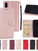 זול מגנים לאייפון-מגן עבור Apple iPhone XS / iPhone XR / iPhone XS Max ארנק / מחזיק כרטיסים / עם מעמד כיסוי מלא אחיד קשיח עור PU