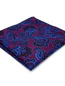 Χαμηλού Κόστους Αντρικές Γραβάτες & Παπιγιόν-Ανδρικά Φλοράλ / Ζακάρ Γραφείο / Βασικό Πλατείες Pocket