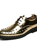 ราคาถูก เสื้อโปโลสำหรับผู้ชาย-สำหรับผู้ชาย ใส่รองเท้า หนังสิทธิบัตร ฤดูใบไม้ผลิ / ตก ไม่เป็นทางการ / อังกฤษ รองเท้า Oxfords ไม่ลื่นไถล ลายบล็อคสี สีดำ / สีทอง / สีเงิน / พรรคและเย็น / หมุดย้ำ / พรรคและเย็น / รองเท้าสบาย ๆ