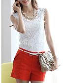 Χαμηλού Κόστους Φορέματα-Γυναικεία T-shirt Μονόχρωμο Λεπτό Λευκό