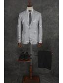 povoljno Odijela-Patterned Kroj po mjeri Poliester Odijelo - Stepenasti Droit 1 bouton / odijela