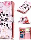 povoljno Maske za mobitele-Θήκη Za Samsung Galaxy Note 9 / Note 8 / Note 5 Novčanik / Utor za kartice / sa stalkom Korice Riječ / izreka / Cvijet Tvrdo PU koža