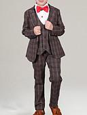 cheap Boys' Clothing Sets-Kids Boys' Basic Plaid Long Sleeve Cotton Clothing Set Blue