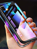 זול מגנים לאייפון-מגן עבור Apple iPhone XS / iPhone XR / iPhone XS Max עמיד בזעזועים / שקוף / מגנטי כיסוי מלא אחיד קשיח זכוכית משוריינת
