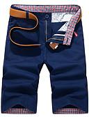 ราคาถูก กางเกงผู้ชาย-สำหรับผู้ชาย Street Chic ทุกวัน กางเกง Chinos / กางเกงขาสั้น กางเกง - สีพื้น สีน้ำเงิน สีน้ำเงินกรมท่า สีกากี 28 29 30