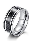 povoljno Koža-Muškarci Band Ring Prsten 1pc Crn Braon Sive boje Volfram čelik nehrđajući Umjetnički Vintage pomodan Vjenčanje Maškare Jewelry Klasičan Cool