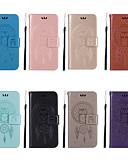 baratos Outro caso de telefone-Capinha Para Asus Asus ZenFone Max ZC550KL / Asus Zenfone GO ZC500TG / Asus Zenfone GO ZB551KL Carteira / Porta-Cartão / Com Suporte Capa Proteção Completa Corujas Rígida PU Leather