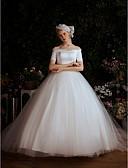povoljno Vjenčanice-Krinolina Spuštena ramena Jako dugi šlep Saten / Til Izrađene su mjere za vjenčanja s po LAN TING Express