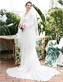 povoljno Vjenčanice-A-kroj V izrez Srednji šlep Šifon / Čipka Izrađene su mjere za vjenčanja s Čipka po LAN TING Express