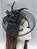 povoljno Party pokrivala za glavu-Perje / Net Fascinators / Headpiece s Perje / Cvjetni print / Cvijet 1pc Vjenčanje / Special Occasion Glava