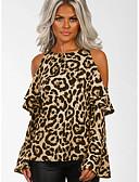 billige T-skjorter og singleter til herrer-T-skjorte Dame - Leopard Gatemote Brun / Sexy