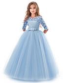 Χαμηλού Κόστους Λουλουδάτα φορέματα για κορίτσια-Παιδιά Κοριτσίστικα Βασικό Μονόχρωμο Κοντομάνικο Φόρεμα Βυσσινί