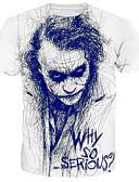 Χαμηλού Κόστους Ανδρικά μπλουζάκια και φανελάκια-Ανδρικά Μεγάλα Μεγέθη T-shirt Βασικό / Κομψό στυλ street - Βαμβάκι Πορτραίτο Στρογγυλή Λαιμόκοψη Στάμπα Λευκό / Κοντομάνικο
