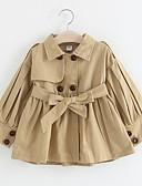 olcso Lány dzsekik és kabátok-Gyerekek Lány Utcai sikk Napi Egyszínű Hosszú ujj Szokványos Ballon kabát Arcpír rózsaszín