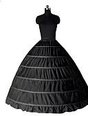 billiga Europeiska kostymer-Prinsessa Underkjol Tutu Under kjol Classic Lolita Femtiotal 6 Hoop Svart Vit Underkjol / Krinolin