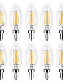 billige Belter til herrer-YWXLIGHT® 10pcs 6 W LED-lysestakepærer LED-glødepærer 500-600 lm E14 C35 6 LED perler COB Varm hvit Hvit 220-240 V