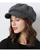 baratos Suéteres de Mulher-Algodão Chapéus com Boné 1 Peça Casual / Roupa Diária Capacete