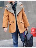 olcso Fiú dzsekik és kabátok-Gyerekek Fiú Alap Napi Egyszínű Hosszú ujj Szokványos Pamut Zakó és dzseki Narancssárga