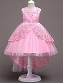 Χαμηλού Κόστους Λουλουδάτα φορέματα για κορίτσια-Πριγκίπισσα Βίντατζ Φορέματα Κοστούμι πάρτι Κοριτσίστικα Στολές Λευκό / Κόκκινο / Μπλε Πεπαλαιωμένο Cosplay Αμάνικο / Φόρεμα / Φόρεμα