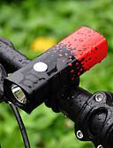 olcso Ruha óra-Kerékpár világítás Kerékpár első lámpa Hegyi biciklizés Kerékpár Kerékpározás Vízálló Hordozható 18650 800 lm 18650 Fehér Kempingezés / Túrázás / Barlangászat Kerékpározás