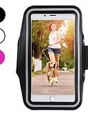 رخيصةأون أغطية أيفون-غطاء من أجل Apple iPhone XS / iPhone XR / iPhone XS Max طوق الرياضة / ضد الصدمات / ضد الغبار عصابة يد لون سادة ناعم كربون فيبر