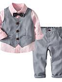 povoljno Kompletići za dječake-Dijete koje je tek prohodalo Dječaci Osnovni Jednobojni Dugih rukava Pamuk Komplet odjeće Blushing Pink