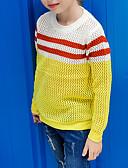 お買い得  赤ちゃん セーター&カーディガン-子供 女の子 ベーシック 日常 ソリッド 長袖 コットン セーター&カーデガン イエロー
