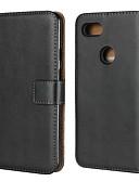 ราคาถูก เคสสำหรับ iPhone-Case สำหรับ Google Google Pixel / Google Pixel XL / Pixel 2 Wallet / Card Holder / with Stand ตัวกระเป๋าเต็ม สีพื้น Hard หนังแท้