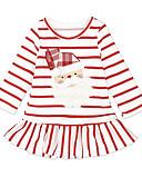 זול שמלות לתינוקות-שמלה עד הברך שרוול ארוך פסים פעיל בנות תִינוֹק / פעוטות
