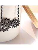 זול שעונים קוורץ-בגדי ריקוד נשים צמידים וינטג סגנון וינטג' Gear נשים מסוגנן וינטאג' סטימפונק קינטית סגסוגת ברזל צמיד תכשיטים שחור עבור רחוב / עור