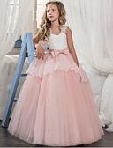 billige Blomsterpikekjoler-Cinderella Prinsesse Kjoler Party-kostyme Jente Barne organza Kostume Lilla / Rød / Rosa Vintage Cosplay Ermeløs