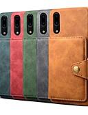 ราคาถูก เคสสำหรับโทรศัพท์มือถือ-Case สำหรับ Huawei Huawei P20 / Huawei P20 Pro / Huawei P20 lite Wallet / Card Holder / Shockproof ปกหลัง สีพื้น Hard หนัง PU
