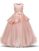 Χαμηλού Κόστους Λουλουδάτα φορέματα για κορίτσια-Παιδιά Νήπιο Κοριτσίστικα Ενεργό Γλυκός Καθημερινά Αργίες Μονόχρωμο Εξώπλατο Με κοψίματα Φιόγκος Αμάνικο Μίντι Φόρεμα Μπλε Απαλό / Πλισέ / Δίχτυ