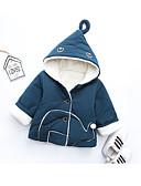 billige Baby Gutter topper-Baby Gutt Grunnleggende Ensfarget Langermet Normal Bomull Dun- og bomullsfôret Navyblå