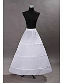 Χαμηλού Κόστους Πέπλα Γάμου-Πριγκίπισσα Φορέματα Μεσοφόρι Τούτου Δεκαετία του 1950 Γκόθικ Μεσαίωνα Λευκό Μεσοφόρι / Κάτω από τη φούστα / Κρινολίνο